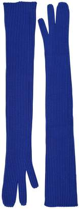 Maison Margiela Long Rib Knit Gloves