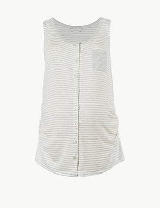Marks and Spencer Maternity Striped Sleeveless Pyjama Top