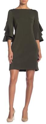 Taylor Ruffle Sleeve Solid Shift Dress