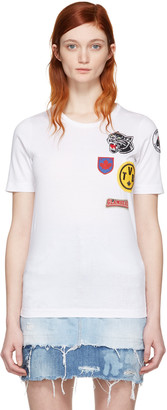 Dsquared2 White Patches T-Shirt $270 thestylecure.com
