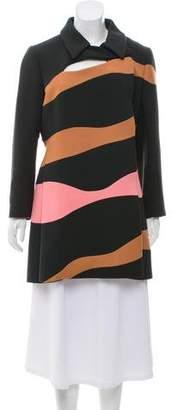 Christian Dior Striped Wool Coat w/ Tags