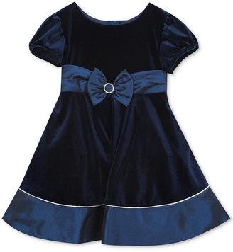 Rare Editions Velvet & Taffeta Dress, Toddler Girls (2T-4T) & Little Girls (2-6X) $74 thestylecure.com