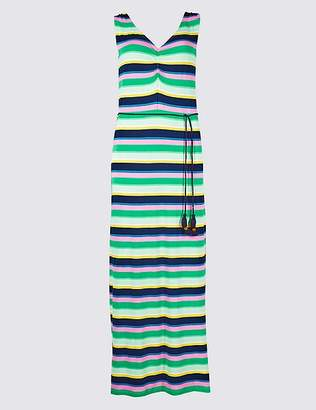 Marks and Spencer Striped Slip Maxi Dress