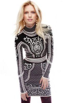 Rachel Roy Merino Wool Lion Dress