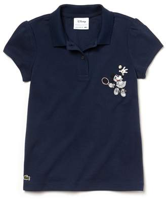 d02a1d761 Lacoste Girls  Disney Minnie Embroidery Mini Pique Polo