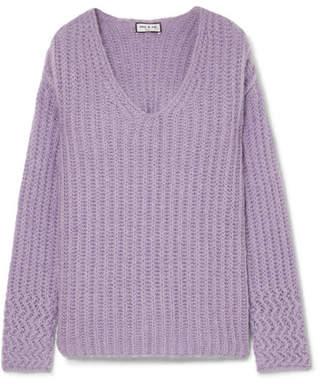 Paul & Joe Joris Oversized Ribbed-knit Sweater - Lavender