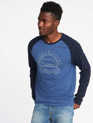 Old Navy Embroidered-Graphic Raglan-Sleeve Tee for Men