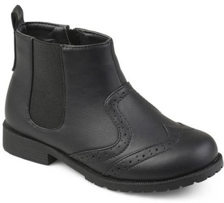 Co Brinley Toddler Boys' Wingtip Faux Leather Chelsea Boots