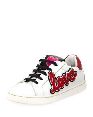 Dolce & Gabbana Heart Love Sneakers, Toddler $325 thestylecure.com