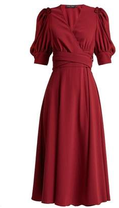 Proenza Schouler Ruffled Crepe Wrap Dress - Womens - Burgundy