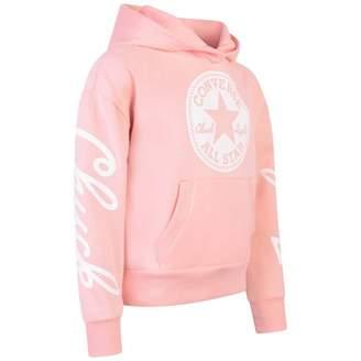 Converse ConverseGirls Pink All Star Logo Print Hoodie
