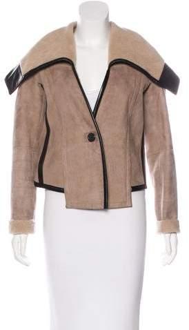 Derek Lam Leather-Trimmed Shearling Jacket