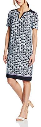 Basler Women's Navy/red Tulip Printed Dress,(Size:38)