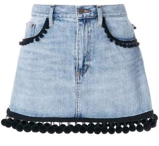Marc Jacobs pom pom trim denim skirt