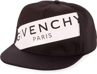 Givenchy Men's Logo Flat-Bill Hat, Black/White