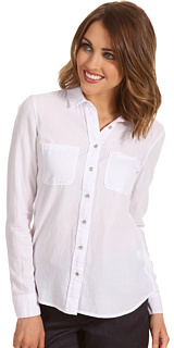Calvin Klein Jeans Petite Petite Fitted Chambray Shirt Shrunken Oxford