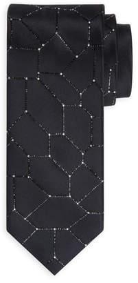 Stefano Ricci Crystal-Tile Silk Tie