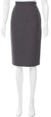 Michael Kors Polka-Dot Pencil Skirt