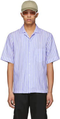 Acne Studios Blue and White Elms Chamb Shirt