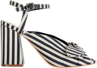 Loeffler Randall Leigh Bow Stripe Sandals