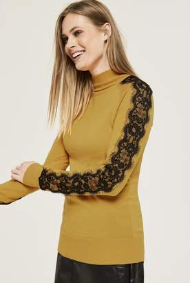 Long Tall Sally Lace Sleeve Sweater
