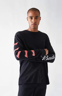 GUESS Pacsun x Budweiser Bud Logo Black Long Sleeve T-Shirt