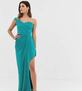 Bardot Yaura maxi dress with thigh split in turquoise