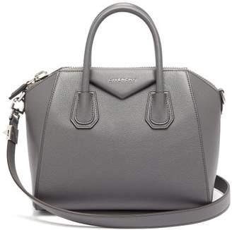 Givenchy Antigona Small Leather Bag - Womens - Dark Grey