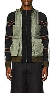 Craig Green Men's Hybrid Bomber Jacket - Green
