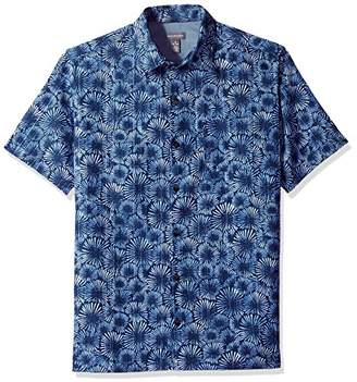 Van Heusen Men's Short-Sleeve Polynesian Printed Shirt
