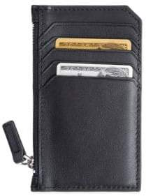 Zip Leather Credit Card Wallet