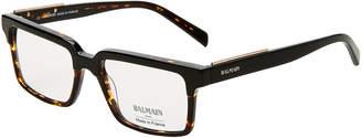 Balmain BL3067 Black & Tortoiseshell-Look Rectangular Optical Frames