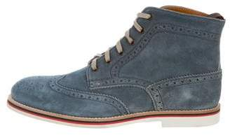 Gordon Rush Suede Wingtip Ankle Boots