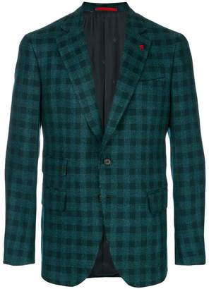 Isaia checked blazer