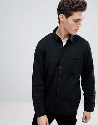 Abercrombie & Fitch Sport Quilted Shirt Jacket in Black
