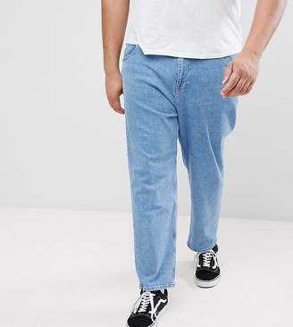 Asos PLUS Skater Jeans In Mid Wash Blue