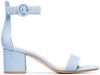 Gianvito Rossi blue Portofino 60 suede sandals