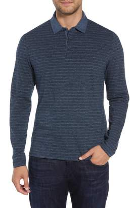 Robert Barakett Wellington Regular Fit Long Sleeve Polo