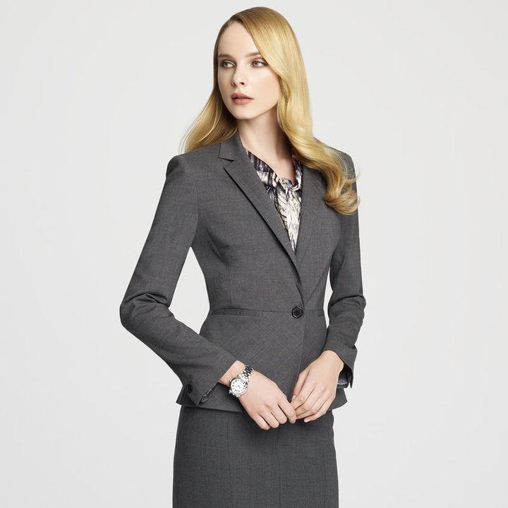 Anne Klein Platinum One Button Blazer