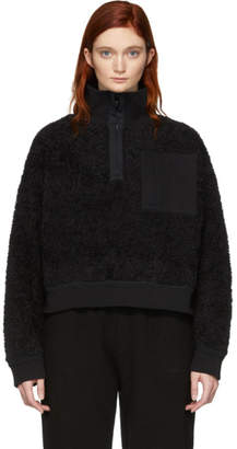 alexanderwang.t Black Fleece Half-Zip Turtleneck