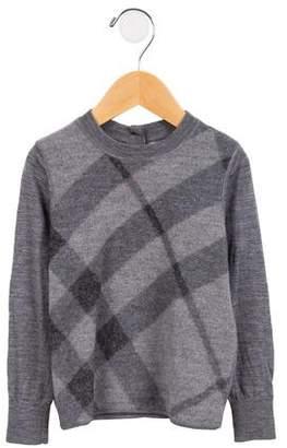 Burberry Boys' Merino Wool House Check Sweater