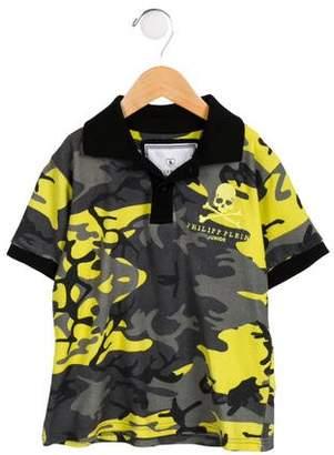 Philipp Plein Junior Boys' Embroidered Camouflage Shirt