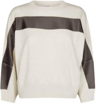 Brunello Cucinelli Cashmere Ribbon Trim Sweater