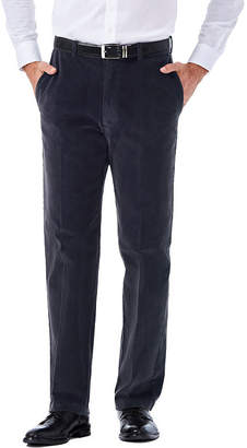 Haggar Stretch Corduroy Classic Fit Flat Front Pant