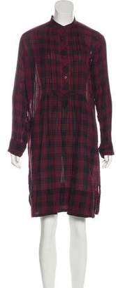 Etoile Isabel Marant Plaid Midi Dress
