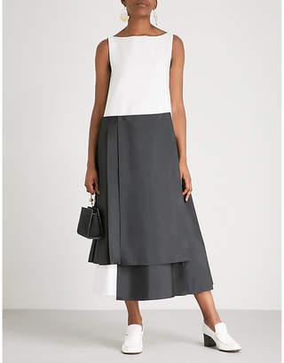 Adeam Asymmetric-hem cotton midi dress