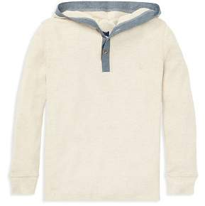 Ralph Lauren Boys' Ribbed Shirt with Hood - Little Kid