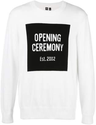 Opening Ceremony logo knit jumper