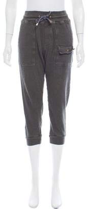 Michael Bastian Cropped High-Rise Joggers