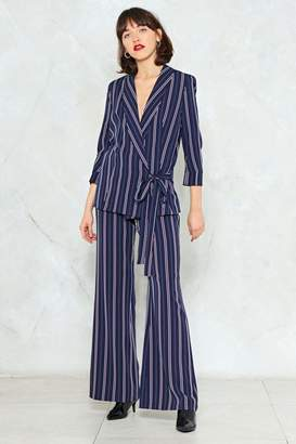 Nasty Gal Stripe Back Atcha High-Waisted Pants